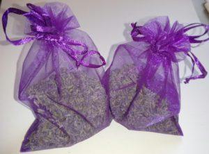 Organic Lavender Filled Organza Bags