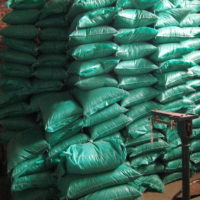 Cherry Stones packed in sacks ready to be shipped out