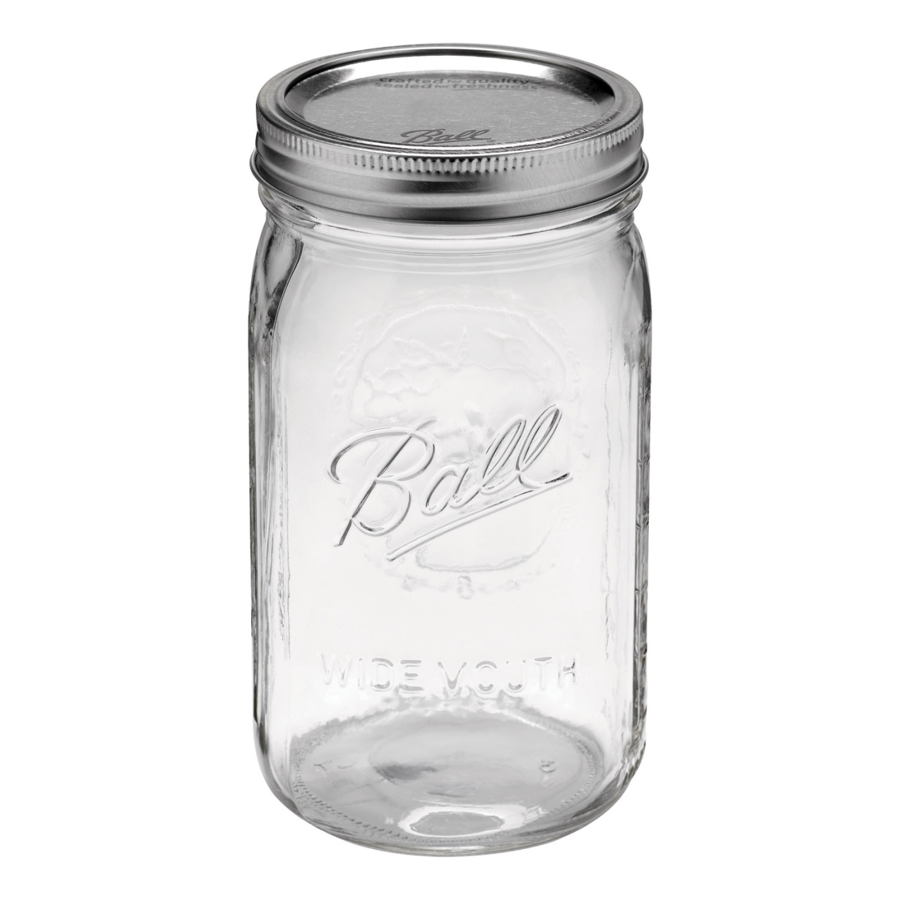 12 x Mason Wide Mouth Canning Jars Quart (32 oz) - Brow ...