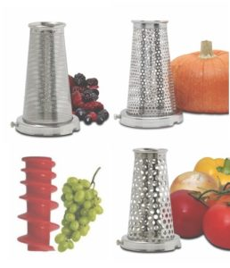 Four-Piece Accessory Pack For The Victorio Food Strainer